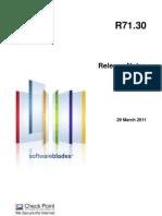 CP R71.30 Releasenotes