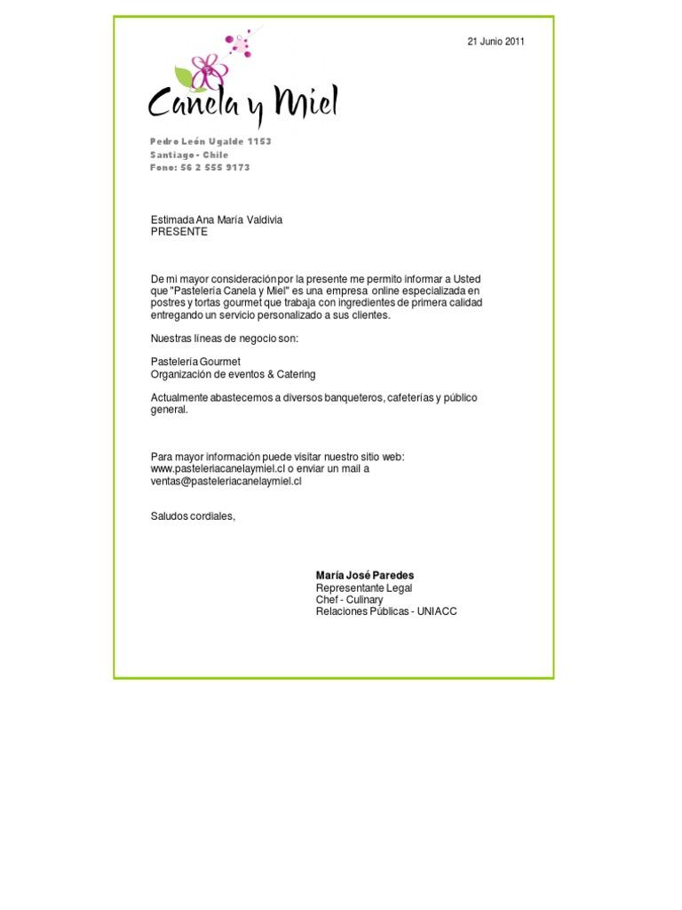 Carta De Presentacion Comercial Ventas Ejemplo de carta de ...