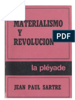 Jean Paul Sartre - Materialismo y revolución.