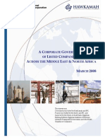 A Corporate Governance Survey of Listed Companies and Banks across the Middle East and North Africa