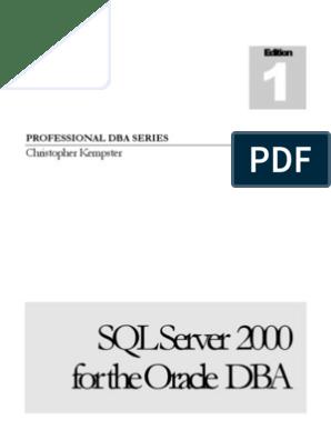 SQL Server for the Oracle DBA | Oracle Database | Microsoft Sql Server