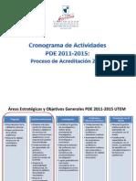 Cronograma PDE 2011  2015