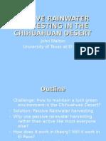 Rainwater Harvesting Chihuahuan Desert