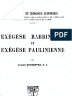 Exégèse rabbinique et exégèse paulinienne