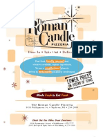 The Roman Candle Menu East