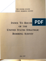 Index to the Records of the United States Strategic Bombing Survey, OCR