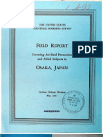 USSBS Report 8, Field Report Covering Air Raid Protection and Allied Subjects, Osaka, Japan, OCR