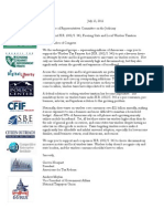 CEI - Tax Fairness Letter