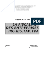 RAPPORT FISCALITE N°01
