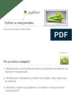 Python w warzywniaku. Rozproszona kolejka zadań Celery