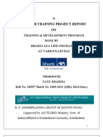 37716674 Training and Development in BHARTI AXA Life Insurance (1)