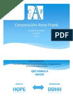 PROYECTO Corporacin Anne Frank