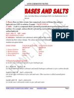 10th Acid Base and Salt Notes 2011