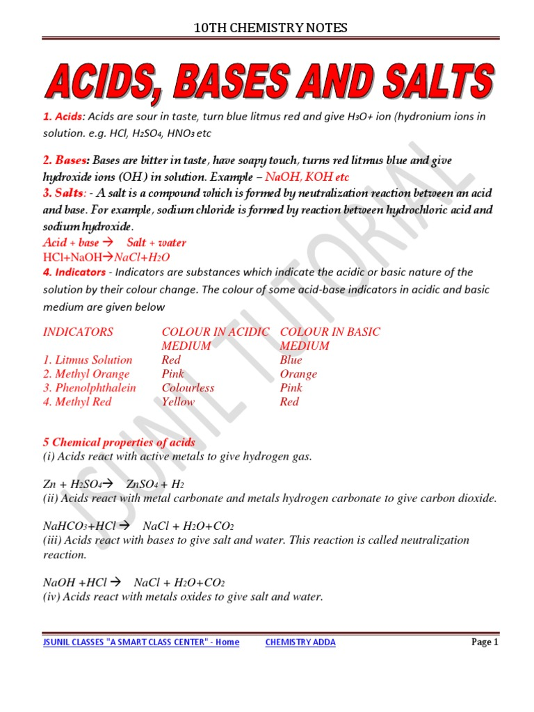 acids bases and salts worksheet chapter 23 breadandhearth. Black Bedroom Furniture Sets. Home Design Ideas