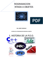 Historia de La Programacion Orientada a Objetos