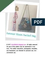 Summer Bloom Bucket Bag Instructions