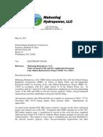 Noi & Pad Cover Letter to Ferc
