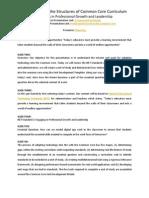 Understanding Structures of Common Core Curriculum