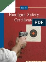 Handgun Safety Certificate Handbook