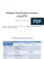 Multiple Classification Analysis Using SPSS