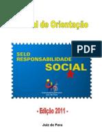 Manual de Orientação para as empresas (Final) - Selo Responsabilidade Social Juiz de Fora 2011