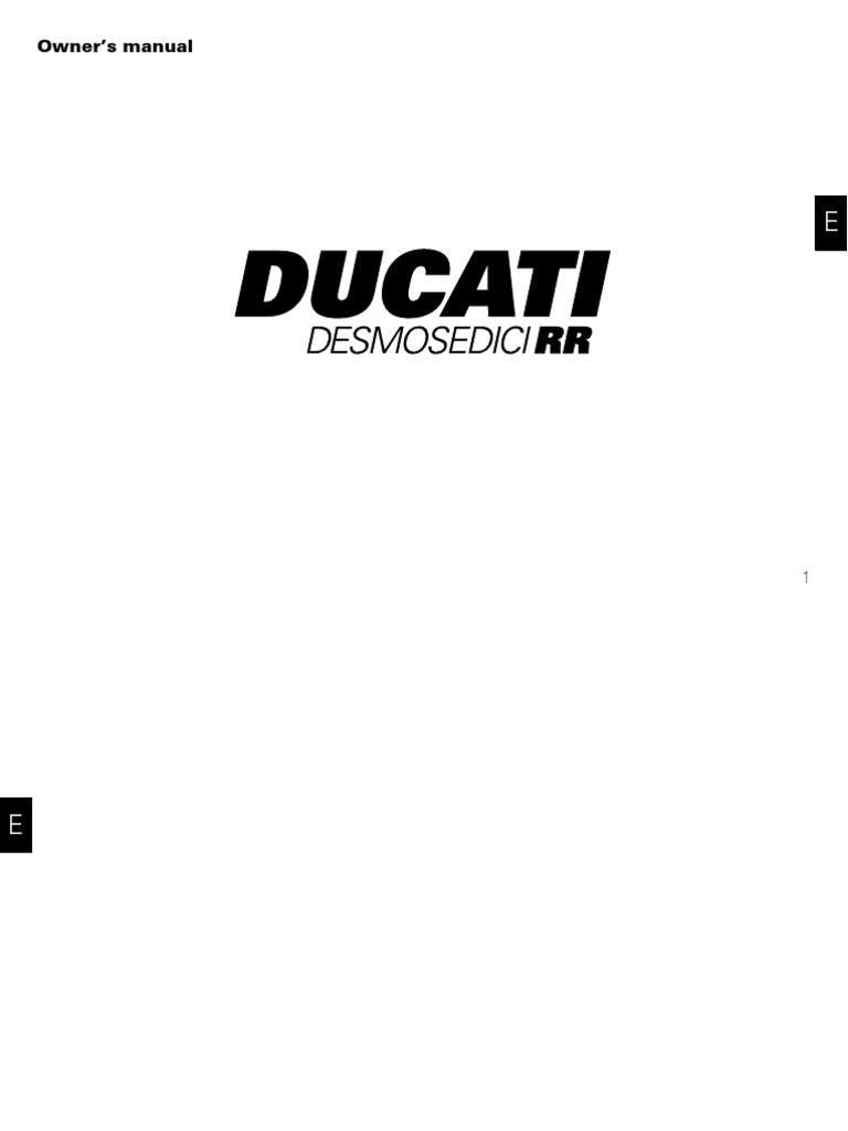 Ducati Desmodici Manual D16rr 08 En Clutch Transmission 749 Fuse Box