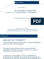 Métodos de valuación de empresas basados en comparables - Guillermo López Dumrauf