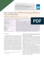 Effect of Ethanolic Extract of Ecballium Elaterium Against Staphylococcus