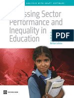 Assessing Sector Performance and Inequality in Education