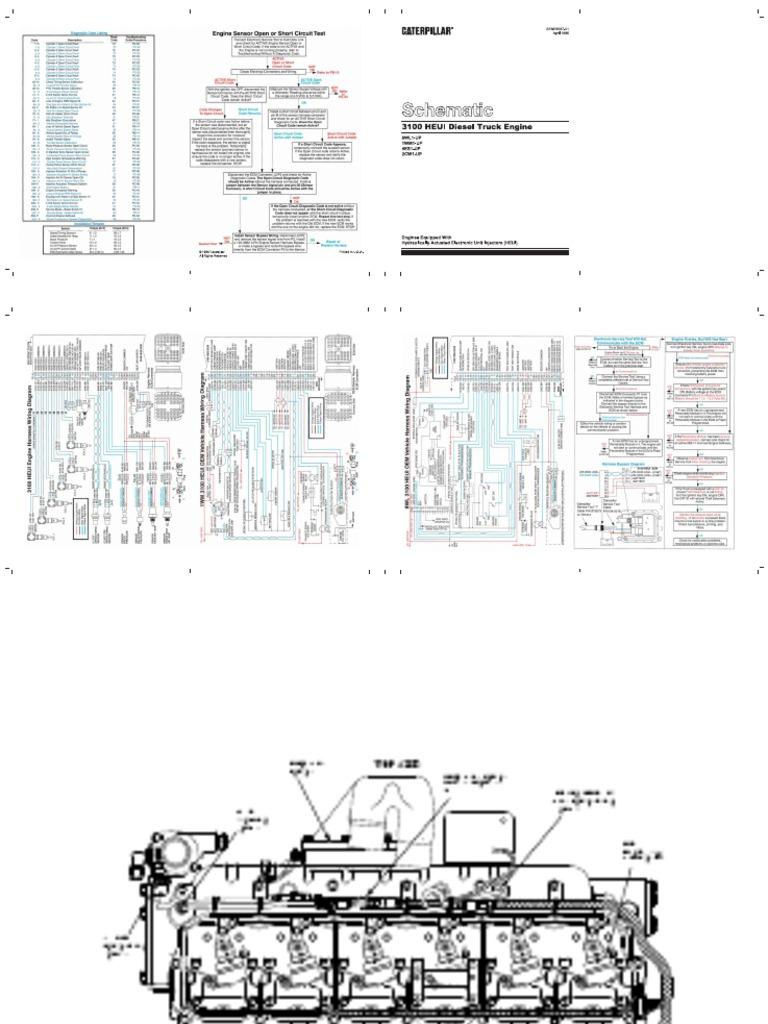 cat 3126 eletric diagrama fuel injection turbocharger rh scribd com caterpillar 3126 wiring diagrams 3126 cat engine wiring diagram