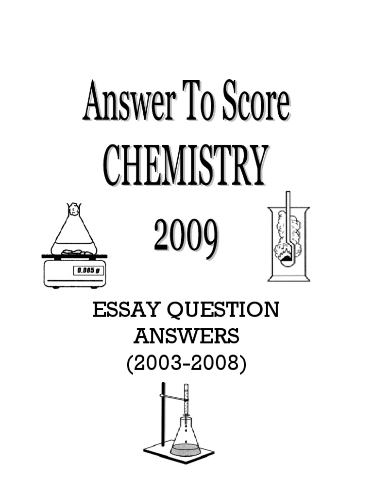 chemistry of life essay questions I wrote an essay about the importance of chemistry in high school and submit it into a competition my essay was awarded second place in the country in nb chemistry is involve in the creation of all manmade objects and things so everything you touch throughout your life time, is touch by chemistry.