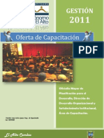 Oferta de Capacitación GAMEA 2011