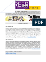The Hidden Job Report for 7.18.11