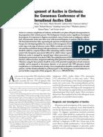 Manejo d Ascitis en Cirrosis - Reporte Club Internacional de Ascitis