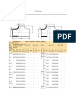 Pipe Fittings Dimension