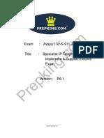 Prepking 132-S-911 Exam Questions