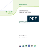 Proceedings of the 2010 PNLG Forum