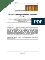 103 Van Zyl & Van Rooyen - Role of Business Environment[1]