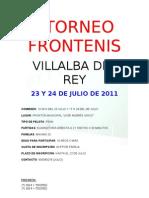 i Torneo Frontenis Villalba Del Rey i