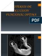 Criterios de Oclusion Funcional Optima