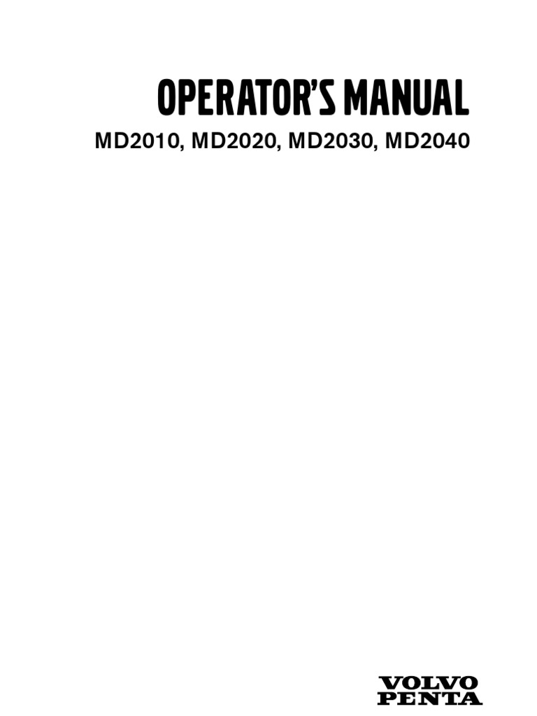 Volvo Penta MD2020 - Operation Manual   Battery (Electricity)   Engines