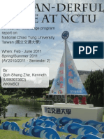 Taiwanderful Time - An INSTEP Exchange Report to NCTU