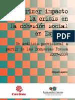 El Primer Impacto de la Crisis en la Cohesión Social en España
