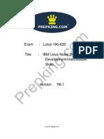 Prepking 190-835 Exam Questions