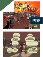 Comic del colectivo Colla Xicalla sobre ley penal para menores.