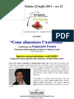 Conferenza su come accrescere l'Autostima - 23 Luglio 2011- Il Fontanile - Grosseto