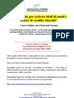 3 Strategie Per Scrivere Email e Lettere di vendita Vincenti - Corso Online
