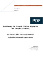 The Turkish Welfare Regime in European Context