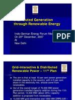 Distribution n GenerationMNRE