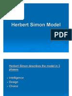 Herbert Simon Model Ppt